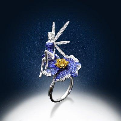 【高品珠寶】首席設計師系列作品-ELF Tears-帶領你來到雪夜裡盛開的花園-12月