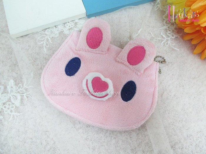 ☆[Hankaro]☆日韓流行粉色兔兔造型ID掛飾(樣品出清)