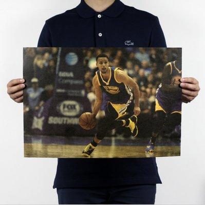 現貨 當日出貨 史蒂芬·柯瑞(Stephen Curry) 牛皮紙海報 NBA籃球 喬喜屋