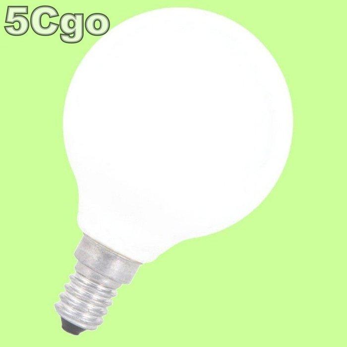 5Cgo【權宇】LED E14奶白龍珠燈泡球型圓形G45 2W 4W亮白光自然光暖白光 另有G60 G80 G95 含稅