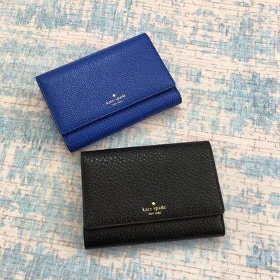 $499 - WALLET KATE SPADE全新專櫃正品 內外真皮 頭層牛皮經典中長款 銀包 錢包 黑色藍色