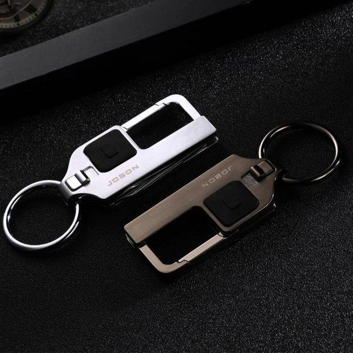 【免運費】汽車鑰匙扣男士 高檔簡約金屬手工鑰匙掛件創意生日禮品QD3C-Y256