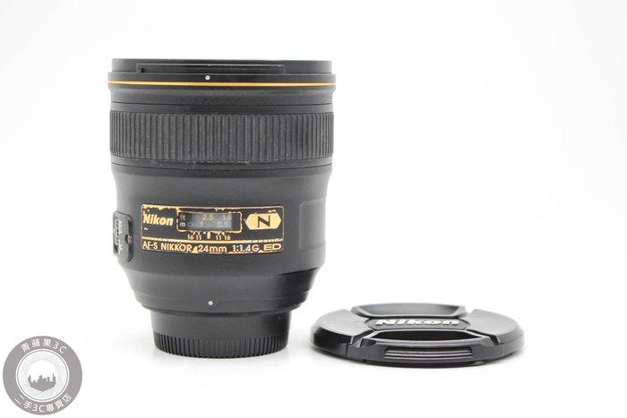 【高雄青蘋果3C】Nikon AF-S 24mm f1.4 G  廣角定焦鏡 二手鏡頭  #49605