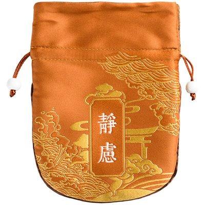 【萬佛緣】中式空香囊 空香袋束口佛珠袋空香包 便攜錦袋麂皮絨內里