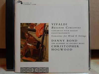 Danny Bond,Hogwood,Vivaldi-Bassoon.c,丹尼·邦德巴松管,霍格伍德指揮,演繹:韋瓦第-巴松管協奏曲,如新。