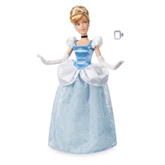 【100%美國迪士尼正品】Disney Cinderella 仙履奇緣 灰姑娘 仙杜瑞拉公主 附戒指 芭比娃娃 玩偶