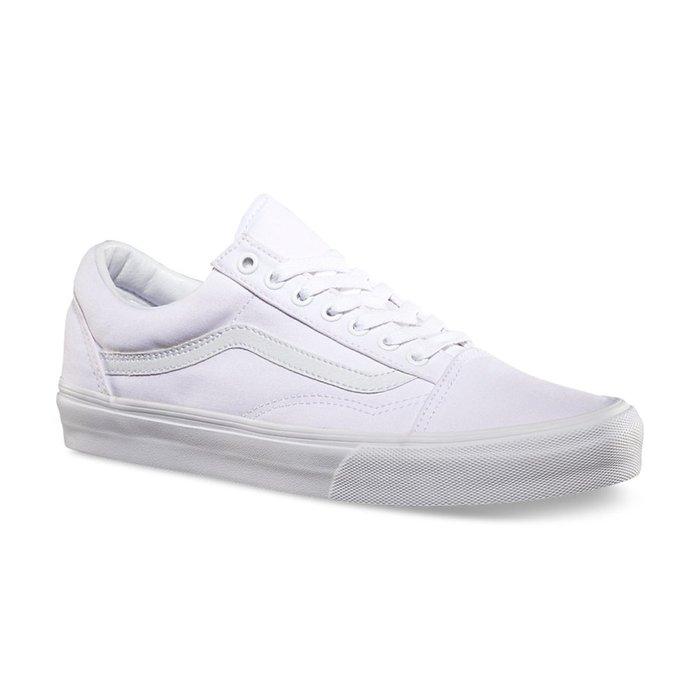 CHIEF' VANS OLD SKOOL 全白 白色 WHITE 帆布 基本款 US4.5~12 #C010551