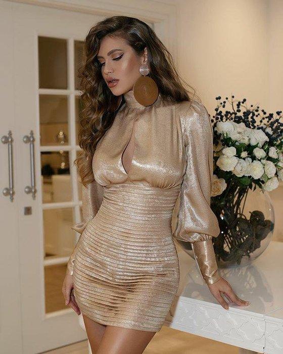 Luxe Boutique 歐美IG同款性感明星超模緞面後綁帶蝴蝶結洋裝 禮服  ootd 孫芸芸 關穎 約會  預購 BH6836