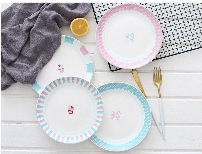 【愛麗絲生活家飾雜貨】日系小清新浪漫少女心8吋陶瓷點心盤/蛋糕盤/水果盤/零食盤