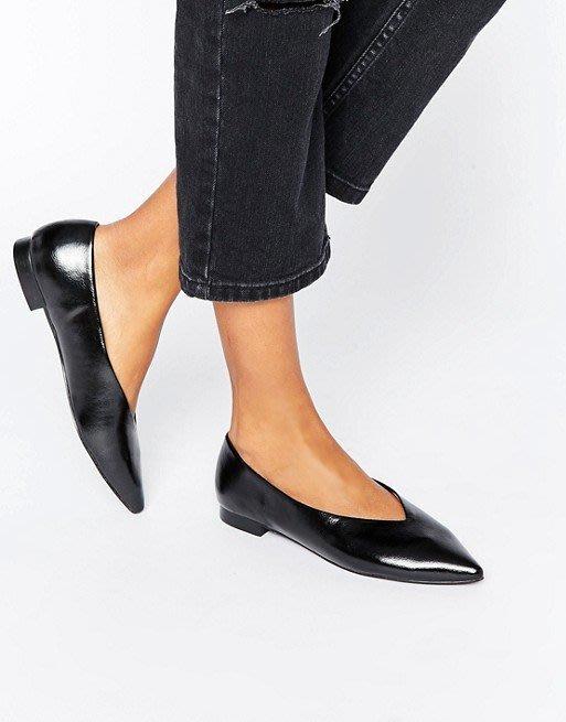◎美國代買◎ASOS代買包鞋式尖楦頭極簡個性風尖頭平底鞋~歐美街風~大尺碼