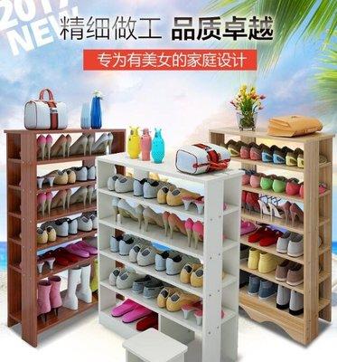 簡易多層鞋架實木質防塵組裝YSY