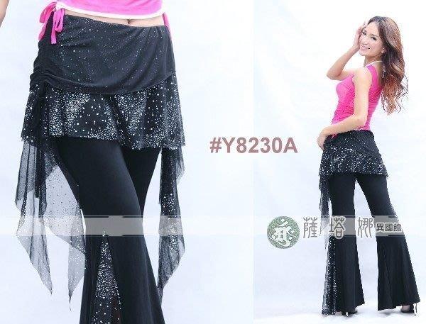 @~薩瓦拉 :黑色_M~XL_Y8230A_亮點網紗抽繩_有裙不可拆水褲/蟑螂褲