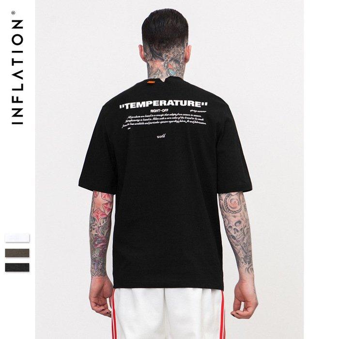 TST- 文字 印刷 素面  寬鬆 大尺寸 oversize 落肩五分袖 短袖T恤 短T 情侶款美式西岸