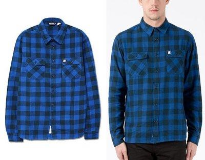 【超搶手】全新正品 冬季 UNDEFEATED FRANCHISE FLANNEL 法蘭絨 格紋襯衫 藍色 S M