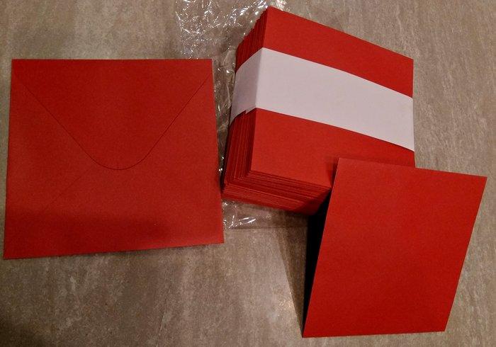 紅珠光信封 喜帖信封
