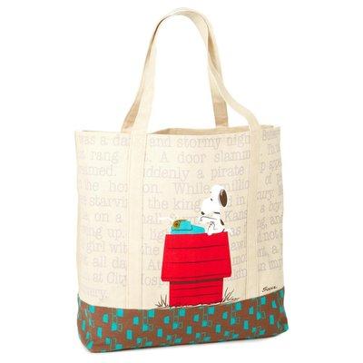 預購 美國 Snoopy 可愛紅屋史努比 大開口托特包 環保購物袋 萬用袋