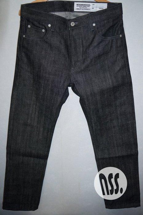 「NSS』NEIGHBORHOOD 17 RIGID CLASSIC NARROW 原色 窄版 牛仔褲 M L XL