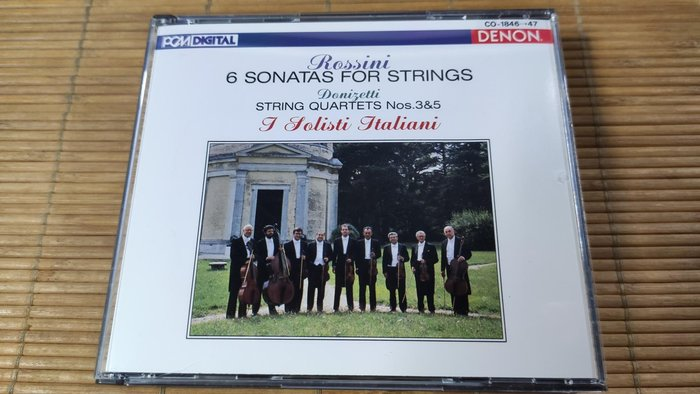 好音悅 Rossini 羅西尼 弦樂奏鳴曲 I Solisti Italiani 2CD DENON 日版