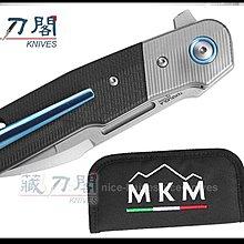 《藏刀閣》MKM KNIVES-(CLAP)G-10柄鈦bolsters折刀(M390鋼拉絲拋光)