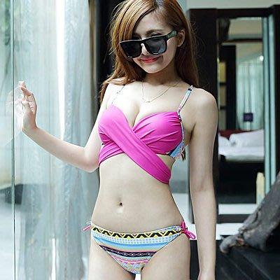 韓國甜美綁帶民俗風比基尼泳裝【O2636】☆雙兒網☆