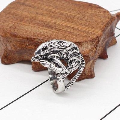 歐美電影復古外星人指環朋克夸張風格異形古銅色戒指男學生指環