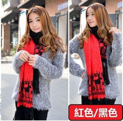 圍巾毛線拼色針織加厚保暖韓版披肩秋冬時尚款街頭潮人免運費 Display