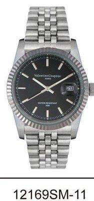 (六四三精品)Valentino coupeau(真品)(全不銹鋼)精準男錶(附保証卡)12169SM-11