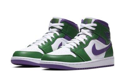 "日本代購 AIR JORDAN 1 MID ""Incredible Hulk"" 554724-300 男鞋(Mona)"