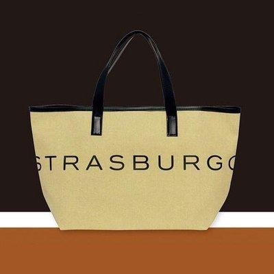 [瑞絲小舖]~日雜附錄STRASBURGO特大托特包 手提包 手拎包 單肩包 購物袋 便當袋 午餐袋