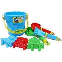 日本進口 湯瑪士 小火車 thomas 造型 挖沙玩具 沙灘玩 洗澡玩具 水桶