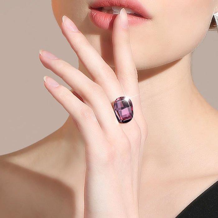 韓國Baby~莉迪卡娜 采用施華洛世奇元素 水晶戒指開口可調節女時尚個性