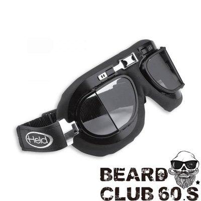 ♛大鬍子俱樂部♛ Held ® Classic Motorcycle 9805 法國 原裝 哈雷 飛行 風鏡 護目鏡