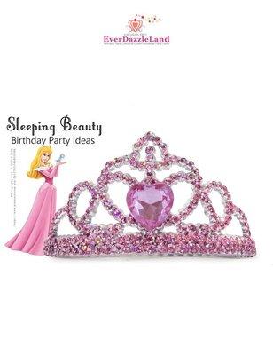 ✨EverDazzleLand✨粉紅睡美人-沉睡中的睡美人奧蘿拉公主小時候小粉紅皇冠髮插梳
