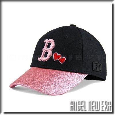 【ANGEL NEW ERA 】 MLB Old Fashioned Cap  紅襪 B 黑 粉紅 老帽 金蔥  愛心