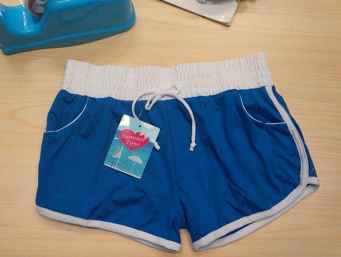 KINI*出清泳裝-單售特區 大女泳褲[素面寶藍]-F尺寸(31腰以下可穿)泳布短褲 可當海灘褲