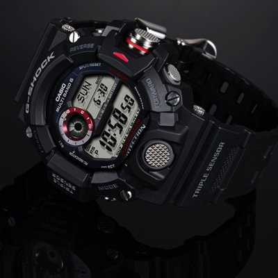 CASIO G-SHOCK GW-9400 RANGEMAN 電波受信機能 TOUGH SOLAR 光動能 GSHOCK GW9400 黑色白面