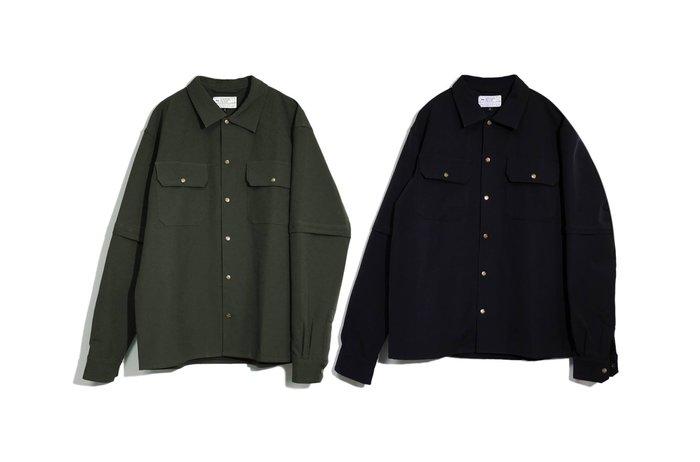 { POISON } LESS 2 WAY SHIRTING JACKET 撥水彈性面料 可拆袖子雙用設計襯衫外套