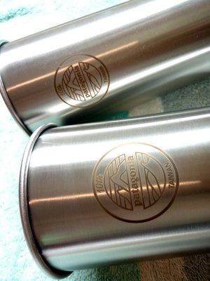 Klean Kanteen 可力利不鏽鋼水杯 20oz /592ml 雷射雕刻,patagonia 台灣限定版,兩個一組