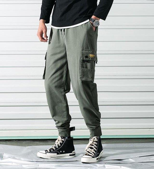 韓系新款法式工裝褲男 日系寬松大碼小腳休閑褲C235