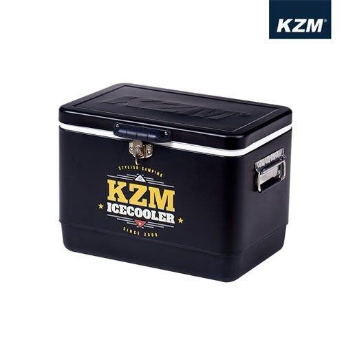 丹大戶外【KAZMI】黑爵士不鏽鋼行動冰箱29L 冰桶置物箱/保鮮桶/保冰/飲料桶 K6T3A04