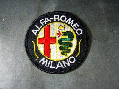 米蘭ALFA ROMEO愛快羅密歐車隊制服徽章 布章 電繡 貼布 臂章 刺繡
