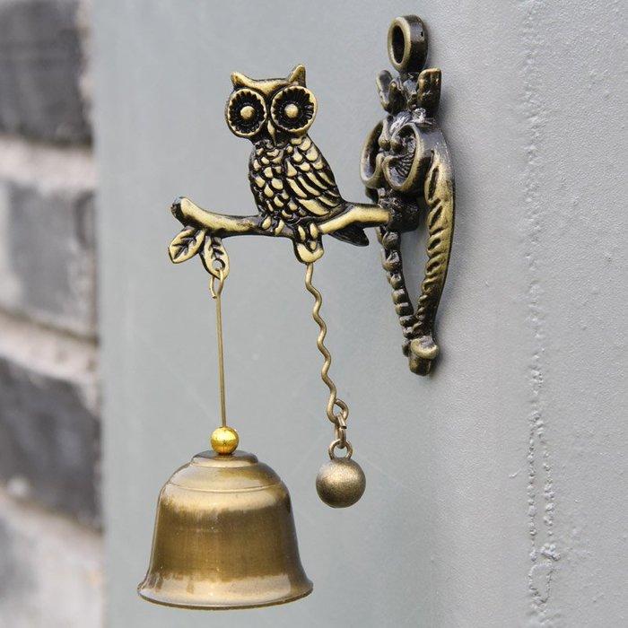預售款-LKQJD-動物金屬門鈴風鈴復古懷舊店鋪家居金屬壁飾門鈴掛飾兒童禮物