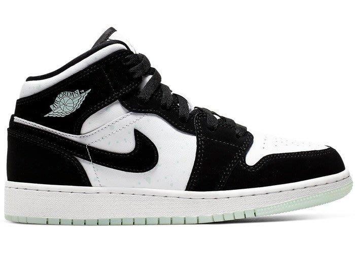 【美國鞋校】預購 Jordan 1 Mid White Black Teal Tint BQ6931-103 大童