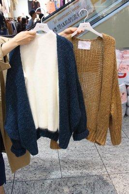 EVA精緻坊【韓國衣飾】【BJ 針織線衫寬鬆外套罩衫】