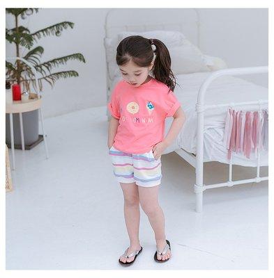 【Mr. Soar】 C391 夏季新款韓國style童裝女童短袖上衣+短褲套裝 現貨