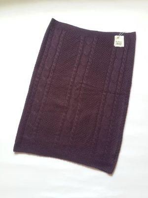 Kinloch Anderson金安德森全新紫色素面織紋羊毛脖圍或平肩穿式