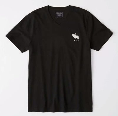 AF Abercrombie & Fitch 大麋鹿 V領 短袖 素T 現貨