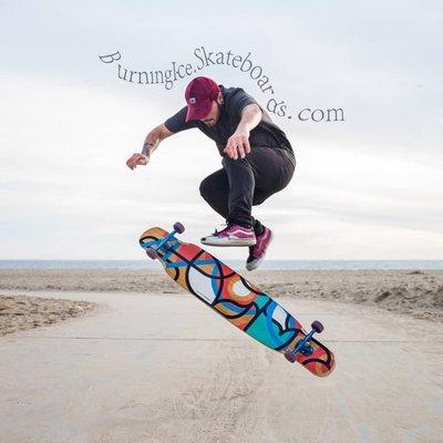 滑板燃燒冰進口loaded bhangra幫嘎v2玻纖輕量專業滑板長板代步dc平花