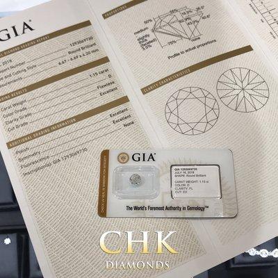 極荀 完美之選 GIA鑽石  1.15 D FL EX EX EX NONE