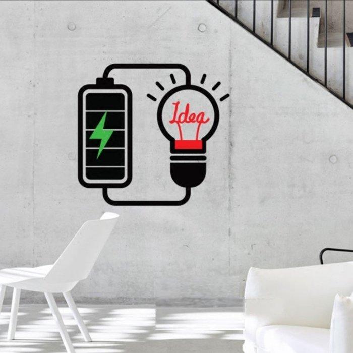 創意壁貼點子標語牆貼家用裝飾辦公室貼紙標識激勵志(100*100cm)_☆優購好SoGood☆